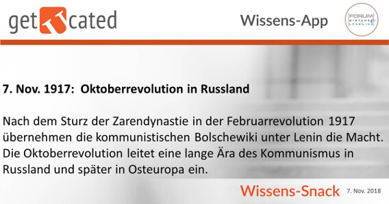 Wissenssnack Oktoberrevolution