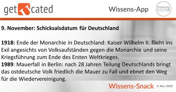 Wissenssnack 09.11. Datum Deutschland
